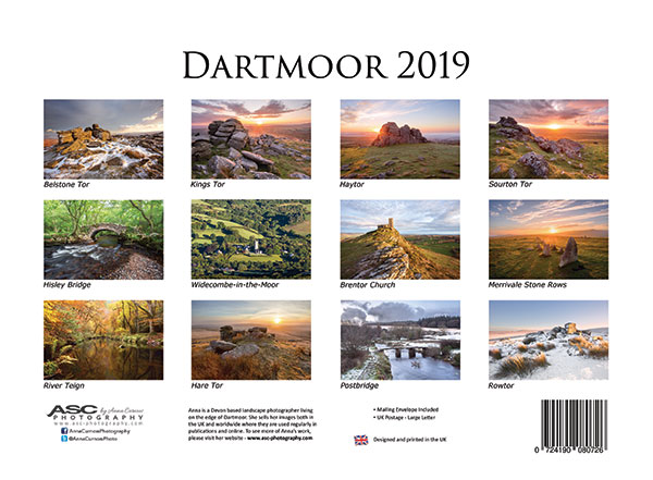 Click for larger image of my Dartmoor 2018 Calendar