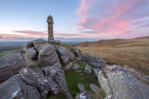 Sunset from Widgery Cross, Brat Tor, Dartmoor
