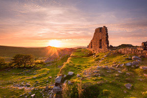 Sunset from Foggintor ruins, Dartmoor