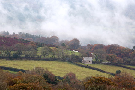 Mist rising at Poundsgate, Dartmoor