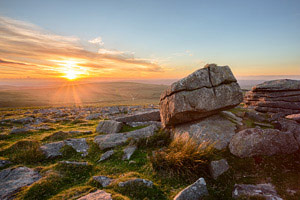 Sunset from Rowtor, Dartmoor