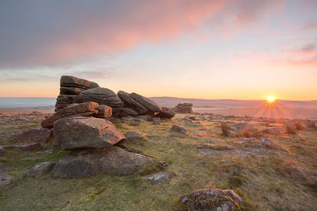 First Light at dawn, Rowtor, Dartmoor