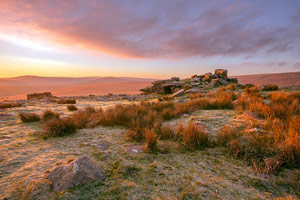 Sunrise over Rowtor, Dartmoor