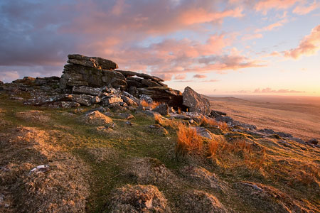 Sunset over West Mill Tor