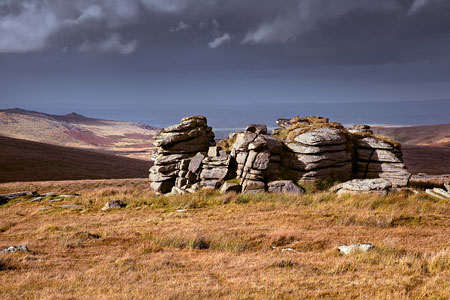 Passing storm over Wild Tor, Dartmoor